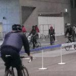サイクルモードは屋内と屋外を使って大きな試乗コースを作っている。粗い写真で申し訳ない