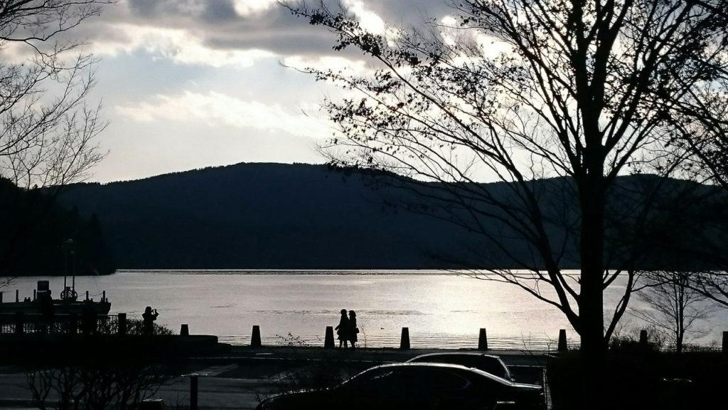 芦ノ湖に到着