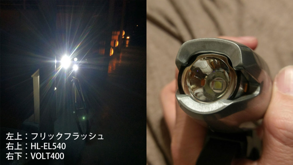 フリックフラッシュの配光