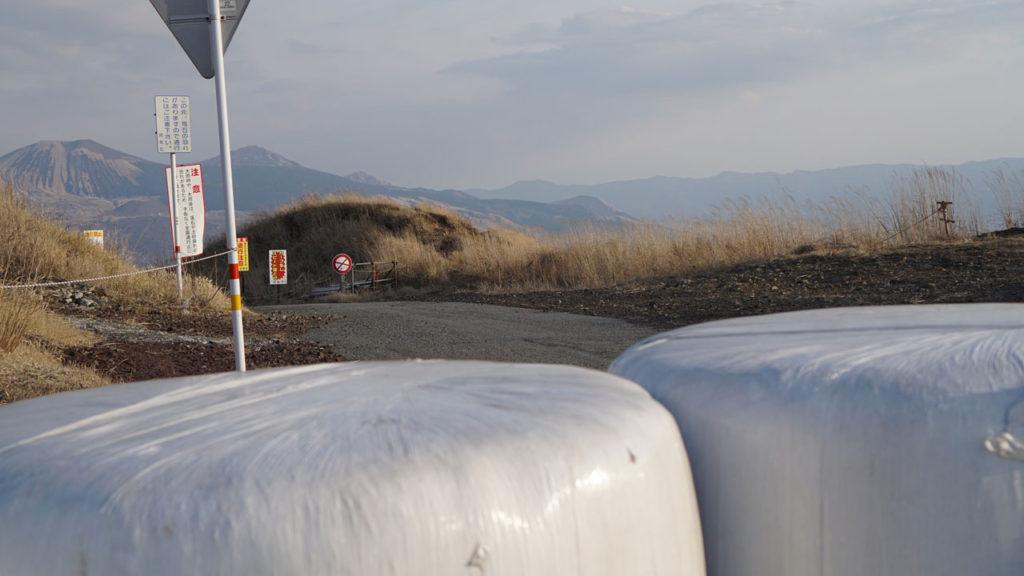 ラピュタの道、入り口。土嚢が積まれては入れなくなっている。