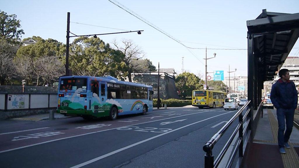 熊本市街地の道路