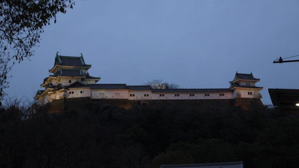 ライトアップされた和歌山城