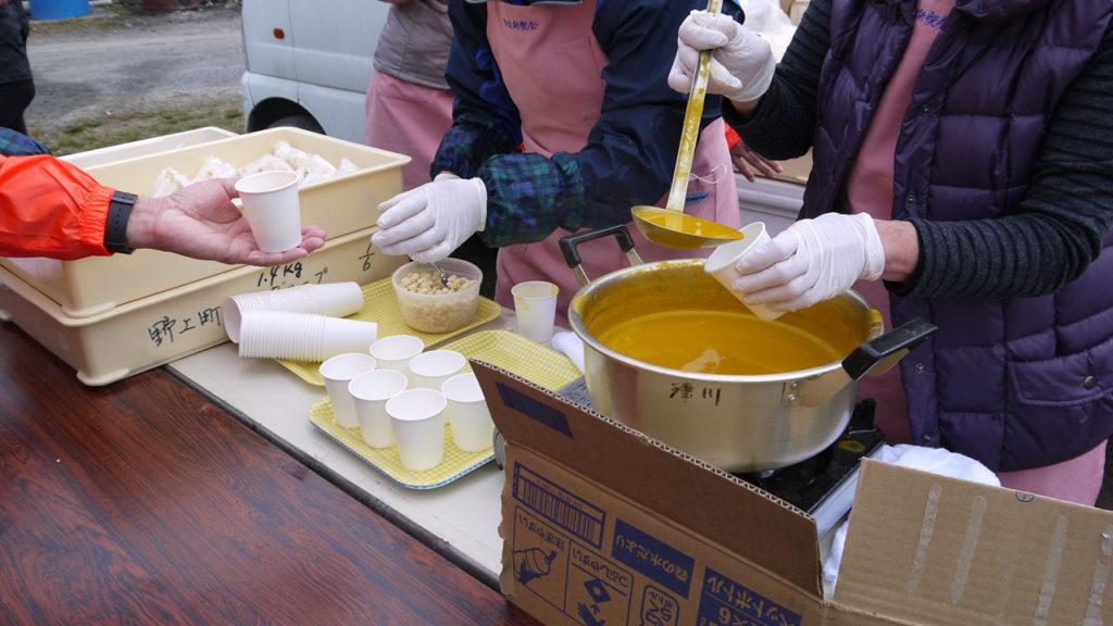 第2エイドのかぼちゃのスープ