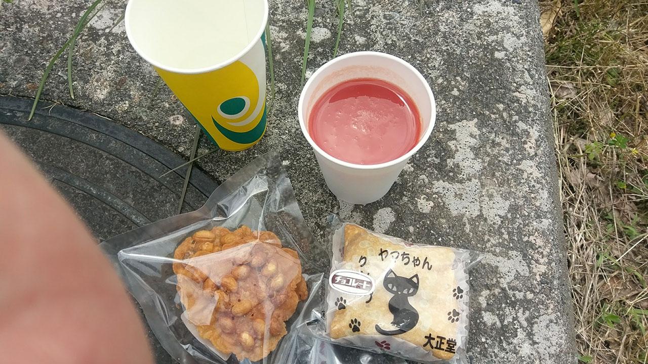 新潟シティライド 第2エイドの補給食