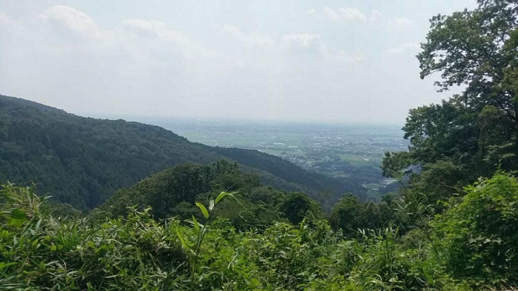 不動峠から市内の眺め