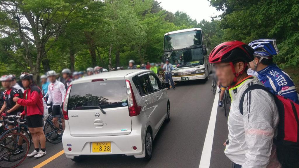 富士ヒルの会場までの道は大渋滞