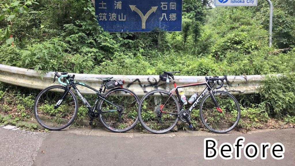 ロードバイク バイクフィッティング前