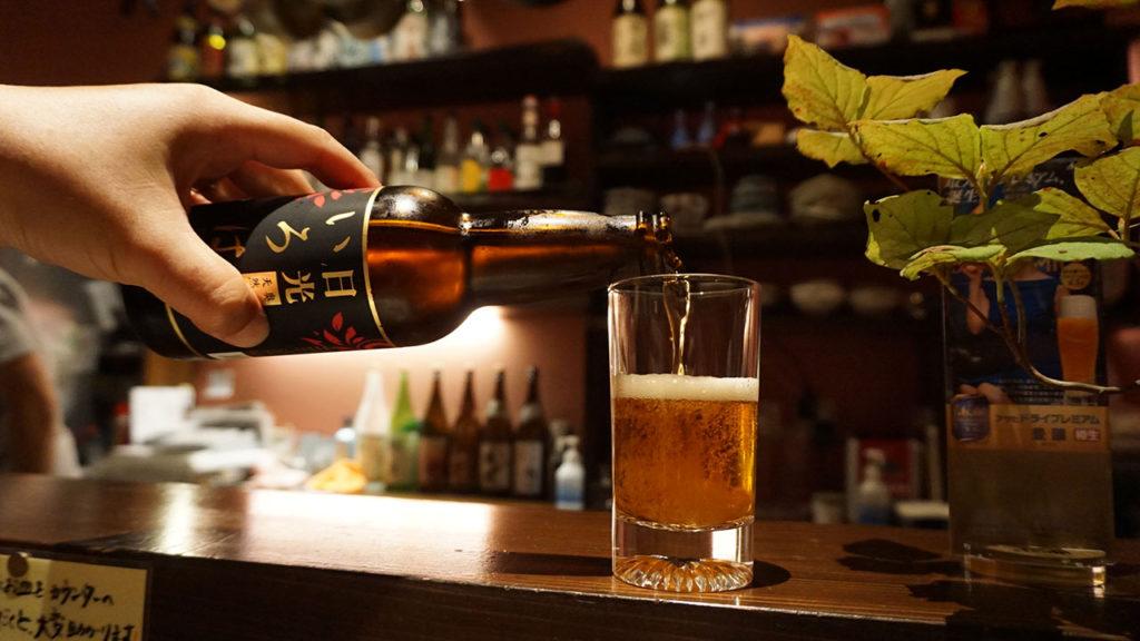日光くじら食堂さんで飲んだビール いろは