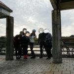 亀山湖で記念撮影