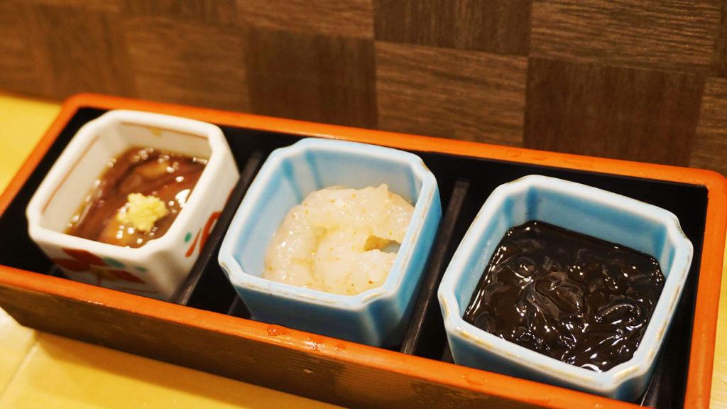 富山名物 珍味三種盛り
