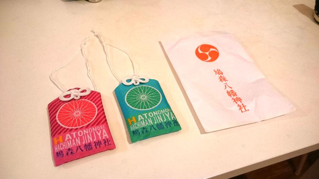 鳩森八幡神社の自転車交通安全お守り