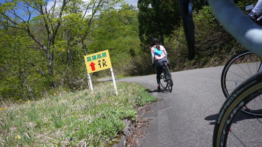 菖蒲高原までの登り