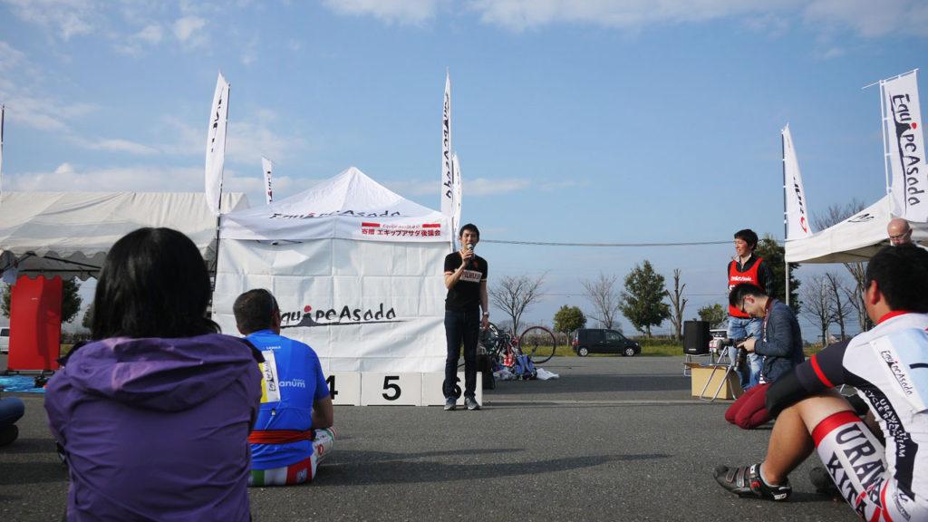 浅田さんからレースの振り返りと今後の展望のお話がありました。