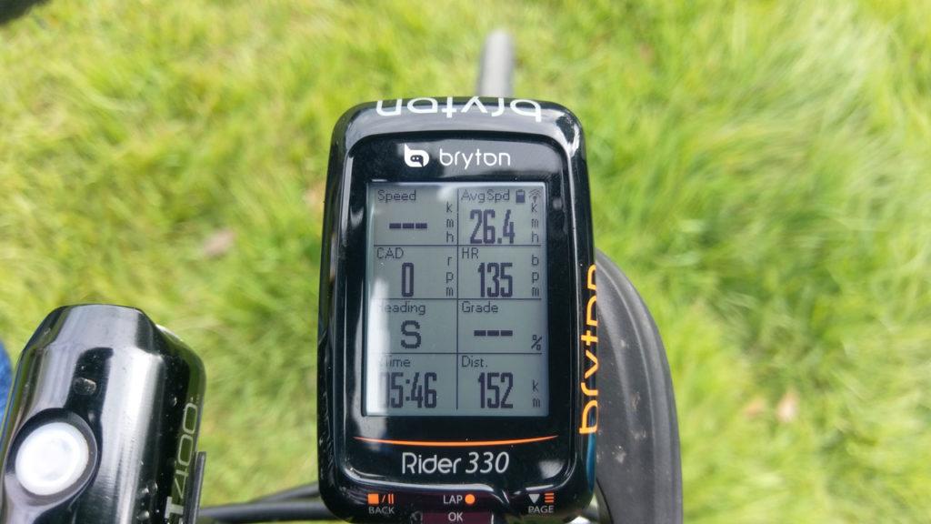 ゴール時の記録。写真に撮れてないけど獲得標高差はサイコンによると1,000m
