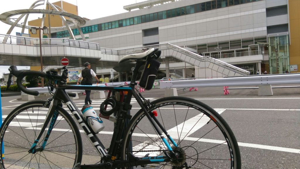 土浦駅に到着してからの写真。既に膝が痛かった。