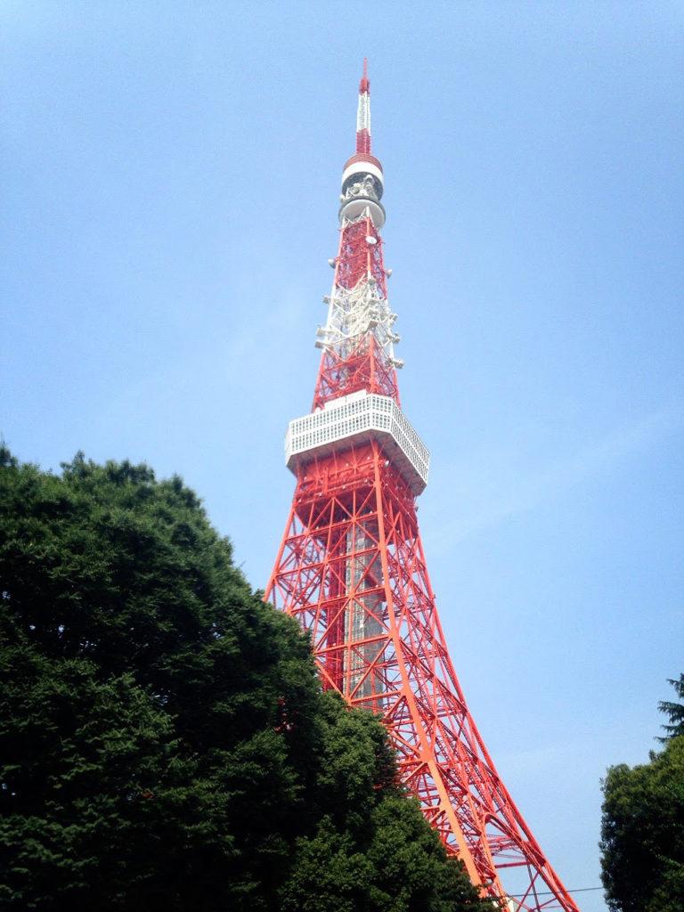 スタート直後の東京タワー。この後にコースミス・・・
