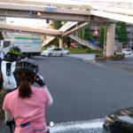 綱島街道と環状2号線の交差点。これは帰りかな?