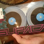 スパカズのバーテープ ブルー×ブラックのツートン